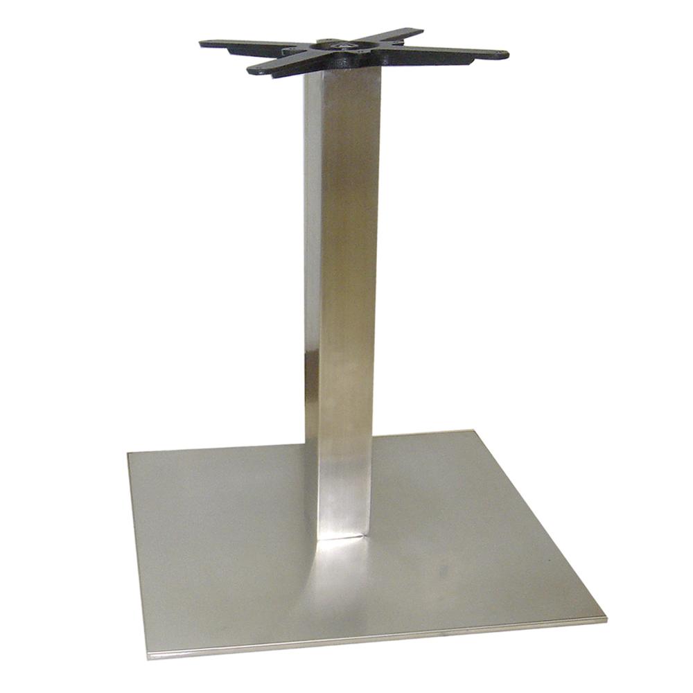 Base cuadrada inox chica mediana grupo meta for Bases de mesas cromadas