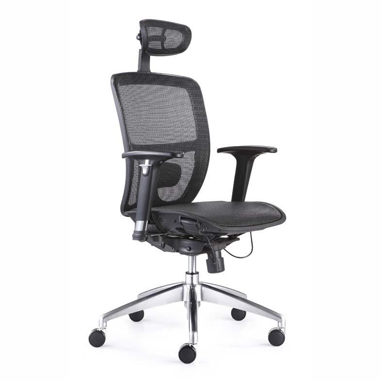 Silla ejecutiva arsenal grupo meta soluciones de for Soporte lumbar silla oficina
