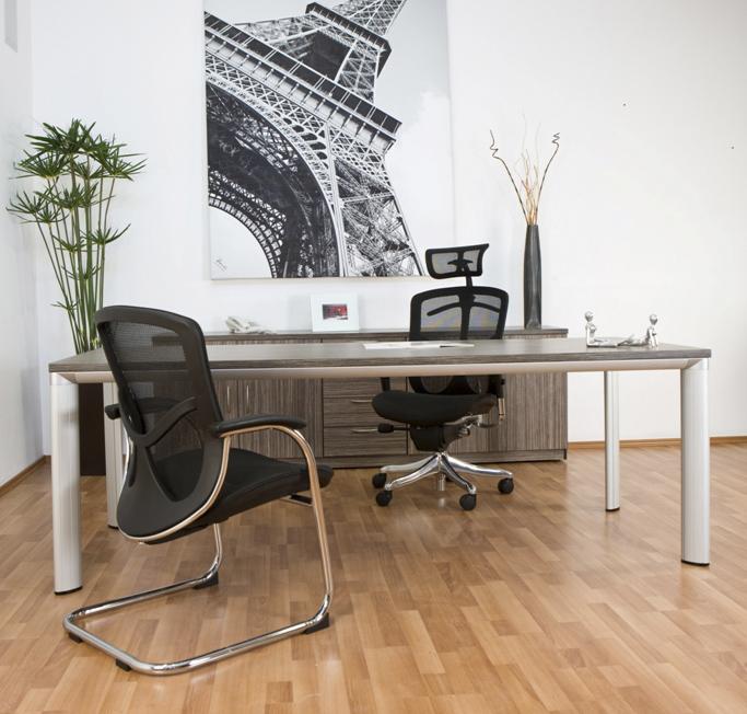 Conjunto directivo con credenza base grupo meta for Conjunto muebles oficina