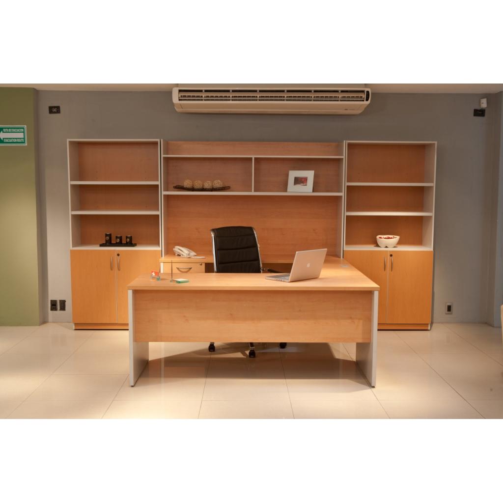 Conjunto directivo con libreros altos evo fast grupo meta for Conjunto muebles oficina