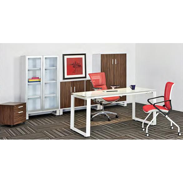 Conjunto gerencial con libreros axio grupo meta for Conjunto muebles oficina
