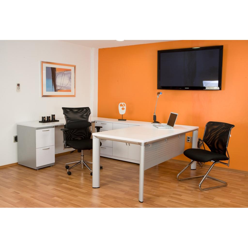 Conjunto gerencial en u base grupo meta soluciones de for Conjunto muebles oficina
