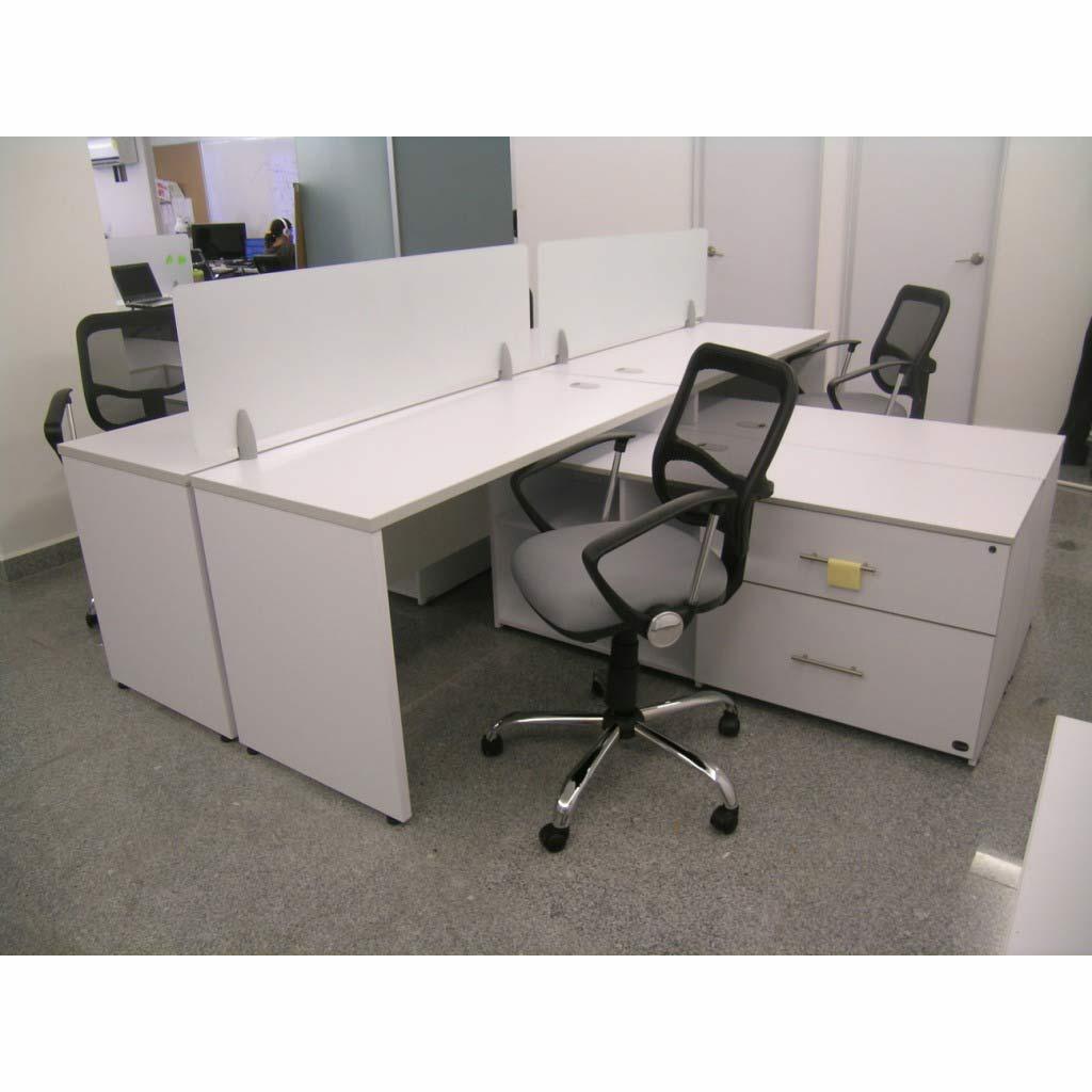 Conjunto operativo cuadruple dynamic retro grupo meta for Conjunto muebles oficina