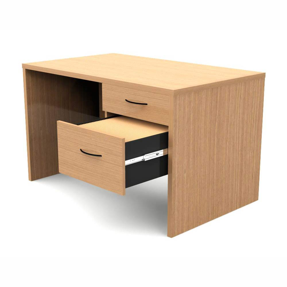 Escritorio operativo con cajones forte grupo meta soluciones de limpieza muebles y oficina for Muebles de oficina outlet