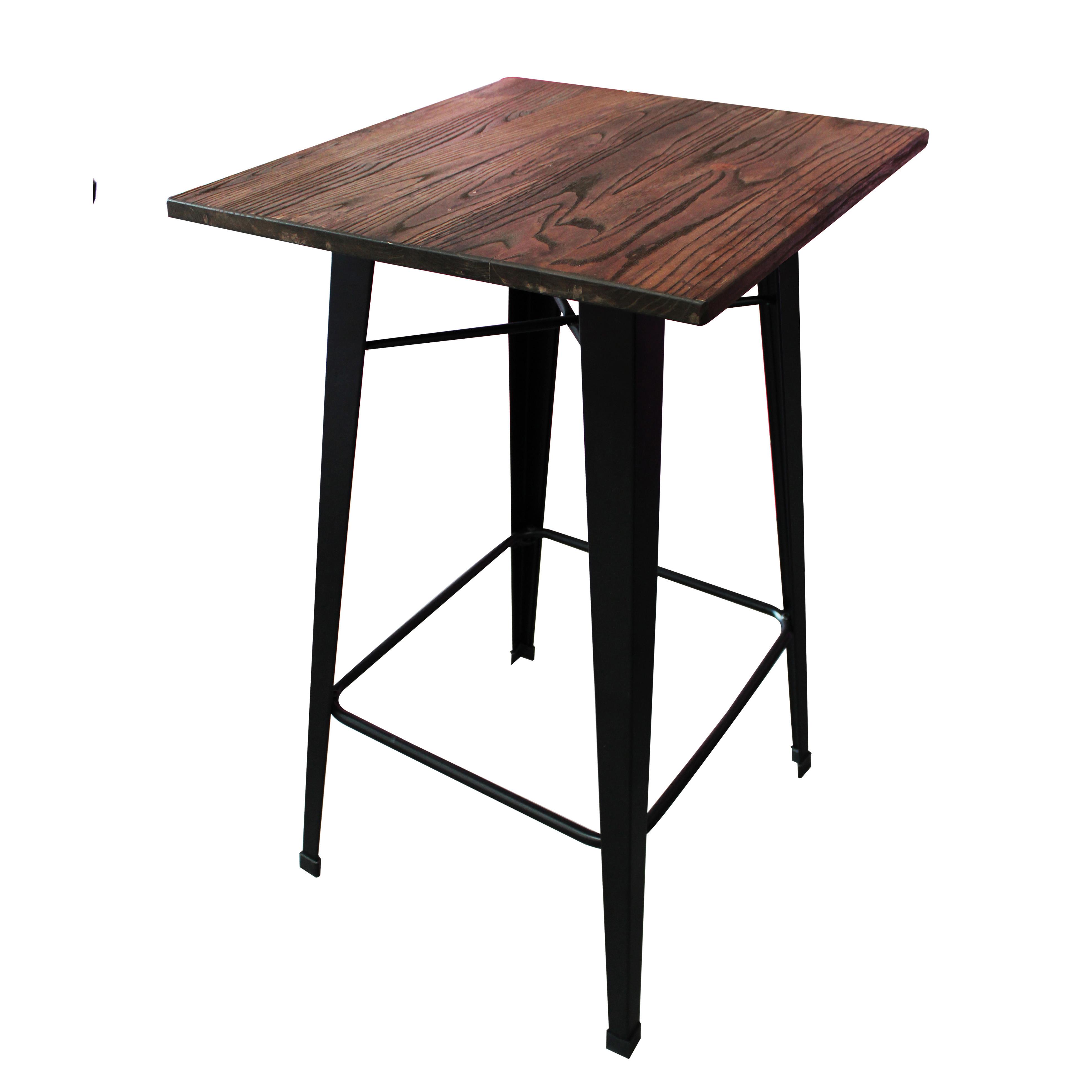 Mesa cafeteria alta folix grupo meta soluciones de for Mesas de madera bar