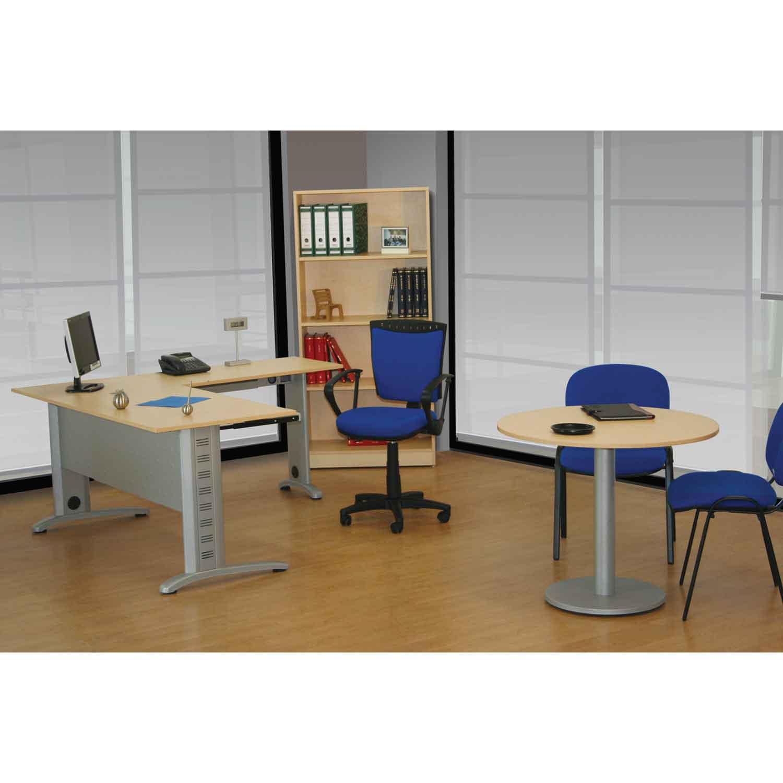 Conjunto operativo en escuadra con librero miami grupo for Conjunto muebles oficina