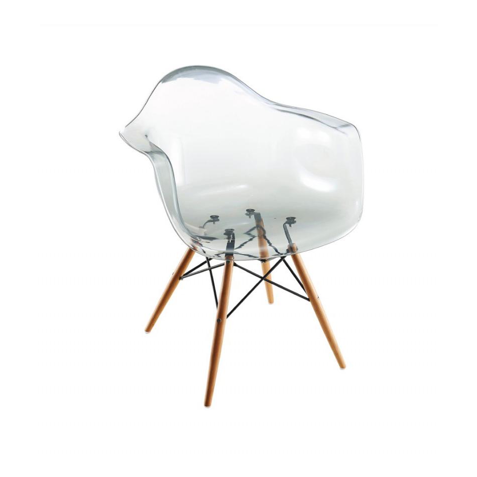 Silla retro hood acrilico con brazos grupo meta - Sillas acrilico transparente ...