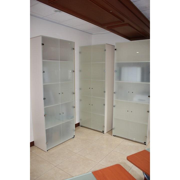Libreros con puertas de cristal dynamic grupo meta for Libreros minimalistas para oficina