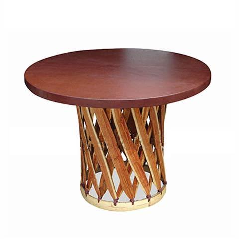 mesa rustica redonda m