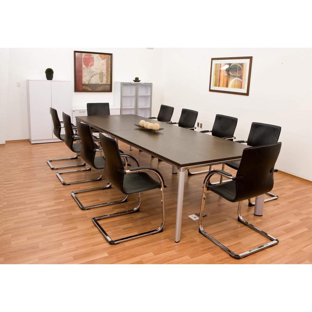 Mesa de juntas rectangular grande base grupo meta for Mesas de centro grandes