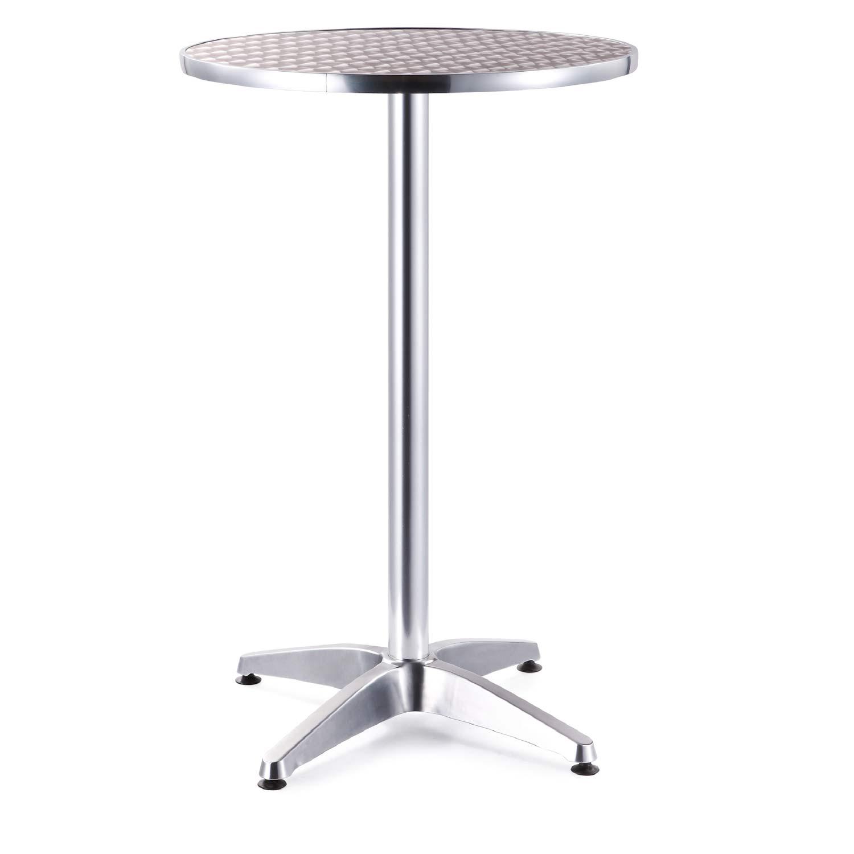mesa para bar aluminio alta