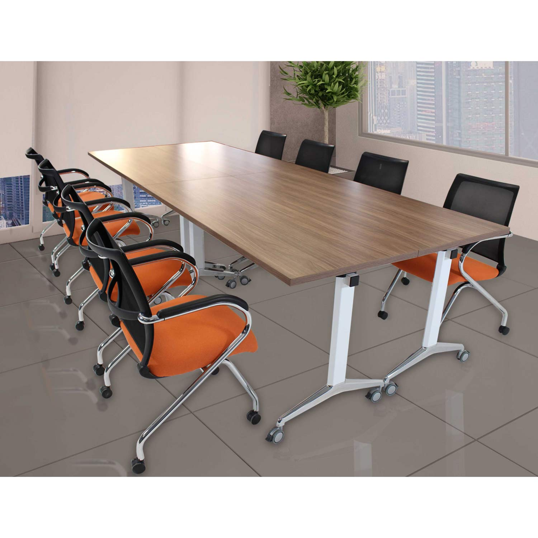 mesa de juntas con escritorios abatible tech grupo meta