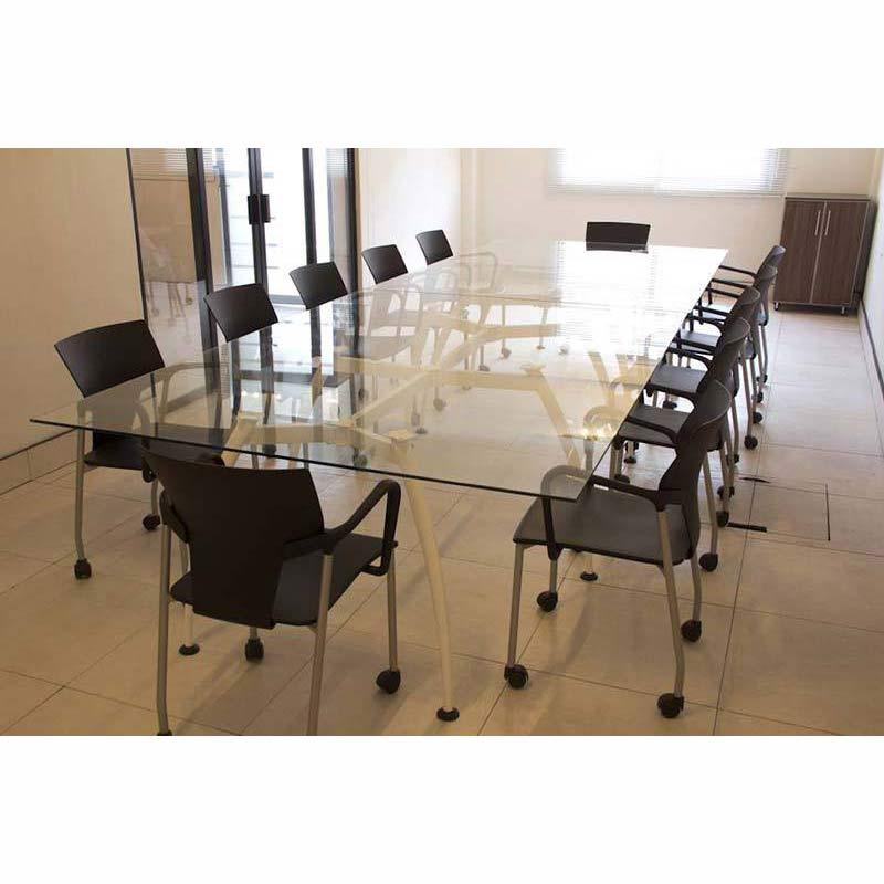 mesa de juntas cristal vid grupo meta soluciones de