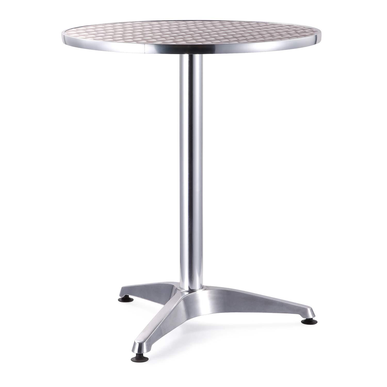 Mesa para jardin aluminio redonda grupo meta soluciones - Mesas de jardin de aluminio ...