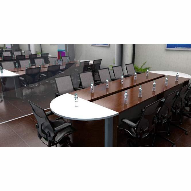 Mesa de juntas ovalada palermo grupo meta soluciones de - Mesa de centro ovalada ...