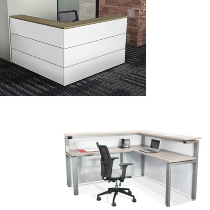 Muebles para recepci n grupo meta soluciones de for Muebles de oficina 3d max