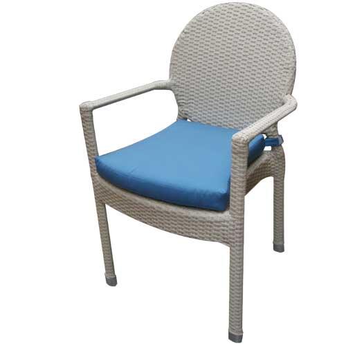 Conjunto de jardin mesa y 4 sillones en aluminio con for Mesas y sillas de jardin de aluminio